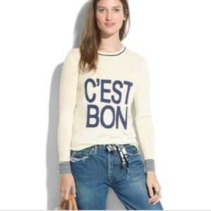 Madewell C'est Bon Merino Wool Sweater SizeM USED